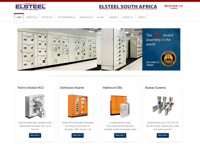 "<span style=""font-size: 12pt;"">ELSTEEL South Africa - <a title=""Website design by Nabis Visual Design"" href=""http://www.elsteel.co.za"" target=""_blank""> Visit Site</a></span>"